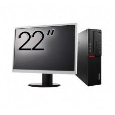 Pachet Calculator LENOVO M700 SFF, Intel Core i3-6100 3.70GHz, 8GB DDR4, 1TB SATA + Monitor 22 Inch