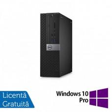Calculator DELL Optiplex 3040 SFF, Intel Pentium G4400 3.30GHz, 4GB DDR3, 500GB SATA, DVD-RW + Windows 10 Pro
