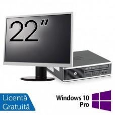 Pachet Calculator HP 8300 USDT, Intel Core i5-3470S 2.90GHz, 4GB DDR3, 500GB SATA, DVD-RW + Monitor 22 Inch + Windows 10 Pro
