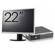 Pachet Calculator HP 8300 USDT, Intel Core i3-3220 3.30GHz, 8GB DDR3, 120GB SSD, DVD-RW + Monitor 22 Inch