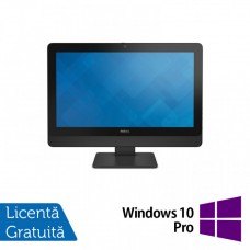 All In One DELL 9030 23 Inch Full HD LED, Intel Core i5-4590s 3.00GHz, 8GB DDR3, 120GB SSD, DVD-RW, Fara picior + Windows 10 Pro