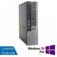 Calculator Dell 9010 USFF, Intel Core i5-3470S 2.90GHz, 4GB DDR3, 500GB SATA, DVD-RW + Windows 10 Pro