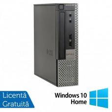Calculator Dell 990 USFF, Intel Core i5-2400s 2.50GHz, 4GB DDR3, 250GB SATA, DVD-RW + Windows 10 Home