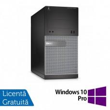 Calculator DELL Optiplex 3020 Tower, Intel Pentium G3220 3.00GHz, 4GB DDR3, 500GB SATA, DVD-RW + Windows 10 Pro