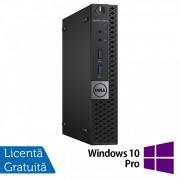 Calculator DELL OptiPlex 7040 Mini PC, Intel Core i5-6500T 2.50GHz, 4GB DDR4, 500GB SATA + Windows 10 Pro