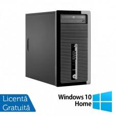 Calculator HP 400 G1 Tower, Intel Core i3-4130 3.40Ghz, 4GB DDR3, 500GB SATA, DVD-ROM + Windows 10 Home