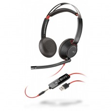 Casti pentru Call Center Plantronics 207576-201, Noise cancellation, USB, Jack 3.5mm