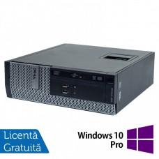 Calculator DELL 3010 SFF, Intel Core i3-3220 3.30GHz, 4GB DDR3, 250GB SATA, DVD-ROM + Windows 10 Pro