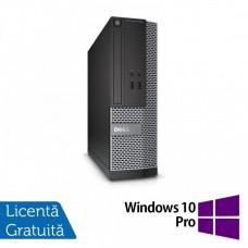 Calculator DELL 3020 SFF, Intel Core i3-4130 3.40 GHz, 4GB DDR3, 500GB SATA, DVD-ROM + Windows 10 Pro