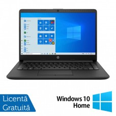 Laptop Nou HP 14-DK1031, AMD Ryzen 3 3250U 2.60GHz, 8GB DDR4, 1TB SATA, Bluetooth, Webcam, 14 Inch, Jet Black + Windows 10 Home