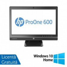 All In One HP ProOne 600 G1, 21.5 Inch Full HD, Intel Core i5-4570S 2.90GHz, 4GB DDR3, 500GB SATA, DVD-RW + Windows 10 Home