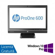 All In One HP ProOne 600 G1, 21.5 Inch Full HD, Intel Core i3-4160 3.60GHz, 4GB DDR3, 500GB SATA, DVD-RW, Webcam + Windows 10 Pro