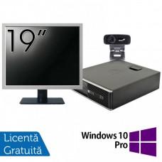 Pachet Calculator HP 6300 SFF, Intel Core i3-2120 3.30GHz, 4GB DDR3, 500GB SATA + Monitor 19 Inch + Webcam + Tastatura si Mouse + Windows 10 Pro