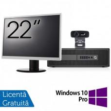 Pachet Calculator HP Prodesk 600 G2 SFF, Intel Core i3-6100 3.70GHz, 4GB DDR4, 500GB SATA, DVD-RW + Monitor 22 Inch + Webcam + Tastatura si Mouse + Windows 10 Pro