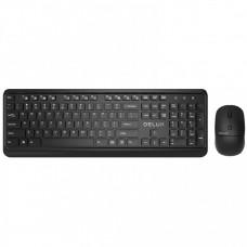 "Kit Tastatura si Mouse DELUX, ""KA190+M320"", wireless, 104 taste format standard, mouse , 3/1 butoane, negru"