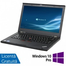 Laptop LENOVO ThinkPad T430, Intel Core i5-3210M 2.50GHz, 4GB DDR3, 120GB SSD, DVD-RW, 14 Inch, Webcam + Windows 10 Pro