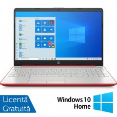 Laptop Nou HP 15-DW1083, Intel Pentium Gold Gen 10 6405U 2.40GHz, 4GB DDR4, 128GB SSD, 15.6 Inch, Webcam, Scarlet Red + Windows 10 Home