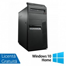 Calculator Lenovo Thinkcentre M83 Tower, Intel Core i3-4130 3.40GHz, 4GB DDR3, 250GB SATA, DVD-ROM + Windows 10 Home