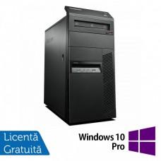 Calculator Lenovo Thinkcentre M83 Tower, Intel Core i3-4130 3.40GHz, 4GB DDR3, 250GB SATA, DVD-ROM + Windows 10 Pro