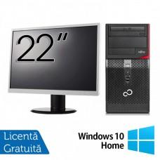 Pachet Calculator FUJITSU SIEMENS P420 Tower, Intel Core i5-4570 3.20GHz, 8GB DDR3, 120GB SSD, DVD-RW + Monitor 22 Inch + Windows 10 Home
