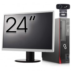 Pachet Calculator Fujitsu Esprimo D756 SFF, Intel Core i5-6400T 2.20GHz, 8GB DDR4, 120GB SSD, DVD-RW + Monitor 24 Inch + Webcam + Tastatura si Mouse