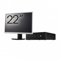 Pachet Calculator HP 800 G1 SFF, Intel Core i7-4770 3.40GHz, 8GB DDR3, 500GB SATA + Monitor 22 Inch