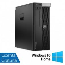 Workstation Dell Precision T5600, Intel Xeon Hexa Core E5-2620 2.0GHz-2.5GHz, 16GB DDR3 ECC, SSD 240GB + 2TB HDD SATA, DVD-RW, nVidia Quadro K4000 3GB + Windows 10 Home
