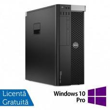 Workstation Dell Precision T5600, Intel Xeon Hexa Core E5-2620 2.0GHz-2.5GHz, 16GB DDR3 ECC, SSD 240GB + 2TB HDD SATA, DVD-RW, nVidia Quadro K4000 3GB + Windows 10 Pro