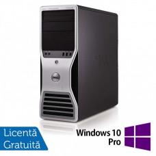 Workstation Dell T5500, Intel Xeon Quad Core E5630 2.53GHz-2.80GHz, 8GB DDR3, 500GB SATA, AMD Radeon HD 7350 1GB GDDR3 + Windows 10 Pro